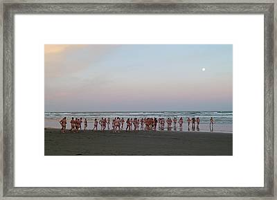 Skinny Dipping Down A Moon Beam Framed Print