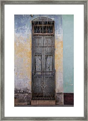 Skinny Door Framed Print