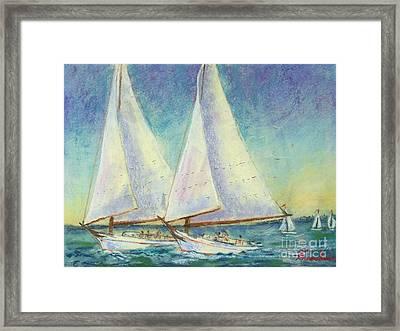 Skip Jack Races Framed Print by Bruce Schrader