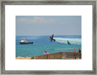 Skip Stewart Extreme Low-level Practice Framed Print by Jeff at JSJ Photography