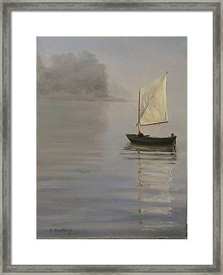 Skipjack On The Chesapeake Framed Print