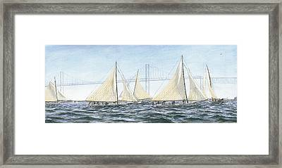 Skipjacks Racing Chesapeake Bay Maryland Framed Print