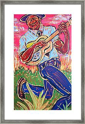 Skippin' Blues Framed Print by Robert Ponzio