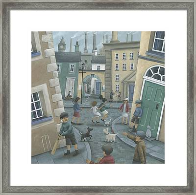 Skipping By The Green Door Framed Print by Peter Adderley