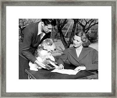 Skippy Signs Contract Framed Print by Underwood Archives