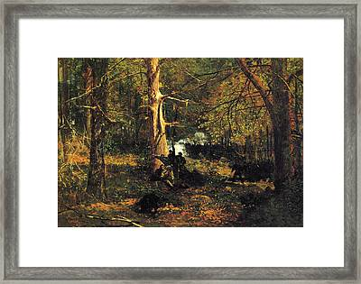 Skirmish In The Wilderness Framed Print by Winslow Homer