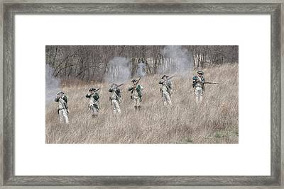 Skirmish Line Two Large Framed Print by Randy Steele