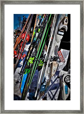 Skis At Mccauley Mountain II Framed Print by David Patterson