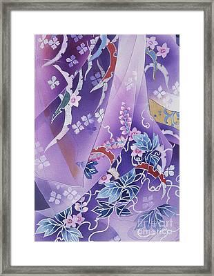 Skiyu Purple Robe Crop Framed Print