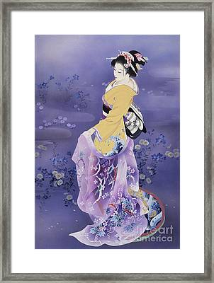 Skiyu Purple Robe Framed Print by Haruyo Morita