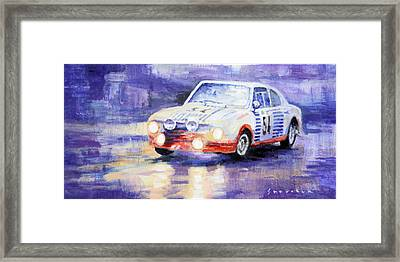 Skoda 130 Rs Rally Monte Carlo 1977 Framed Print by Yuriy Shevchuk