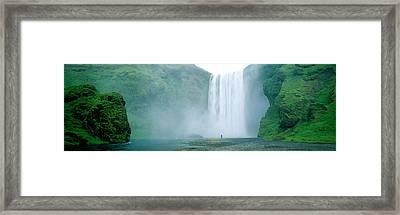 Skogafoss Falls, Skogar River, Iceland Framed Print by Panoramic Images