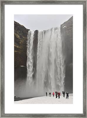 Skogafoss Waterfall Framed Print