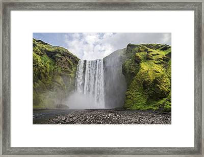 Skogarfoss Waterfall Framed Print