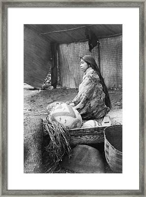 Skokomish Girl Circa 1913 Framed Print by Aged Pixel