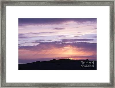 Skomer Sunset Framed Print by Anne Gilbert