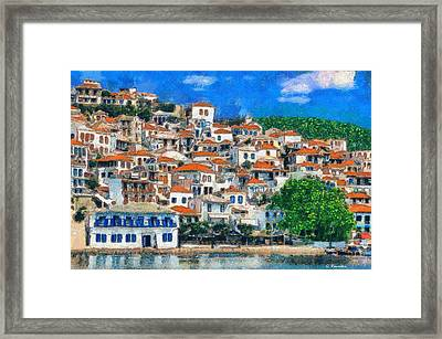 Skopelos Framed Print by George Rossidis