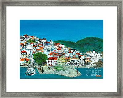 Skopelos Greece Framed Print