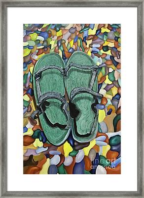 Skopelos Sandals Framed Print
