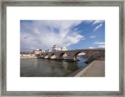 Skopje - Stonebridge Framed Print by Ivan Vukelic