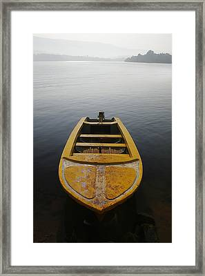 Framed Print featuring the photograph Skc 0042 Calmness Anchored by Sunil Kapadia