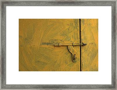 Framed Print featuring the photograph Skc 0047 The Door Latch by Sunil Kapadia