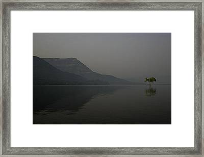 Framed Print featuring the photograph Skc 0086 Solitary Isolation by Sunil Kapadia