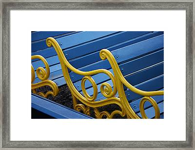 Framed Print featuring the photograph Skc 0246 The Garden Benches by Sunil Kapadia