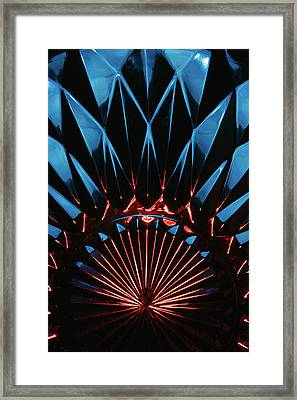 Framed Print featuring the photograph Skc 0269 Cut Glass by Sunil Kapadia