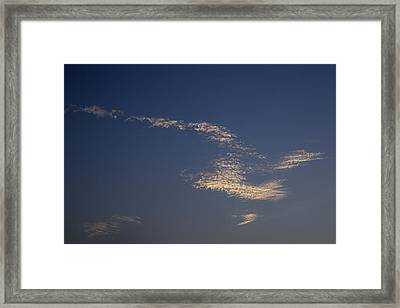 Framed Print featuring the photograph Skc 0353 Cloud In Flight by Sunil Kapadia