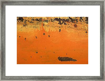 Framed Print featuring the photograph Skc 1505 Peeled Paint by Sunil Kapadia