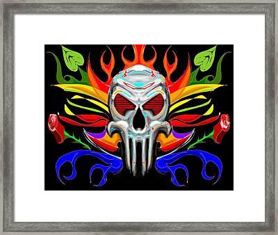 Skull Abstract Framed Print by Arpit Handa
