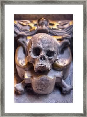 Skull And Bones Framed Print