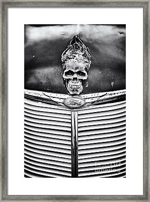 Skull And Bones Framed Print by Tim Gainey
