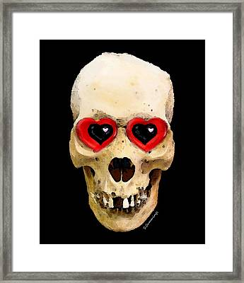 Skull Art - Day Of The Dead 2 Framed Print by Sharon Cummings