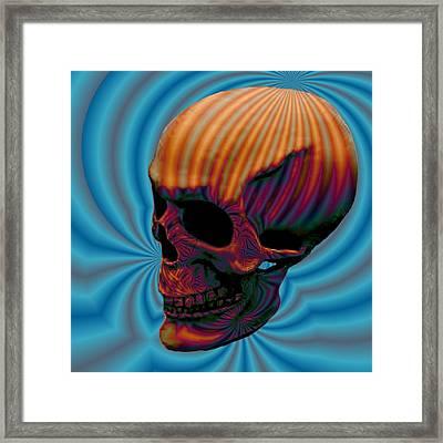 Skull Aura Orange Framed Print by Jason Saunders