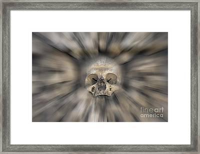 Skull - Fear And Trembling  Framed Print by Michal Boubin