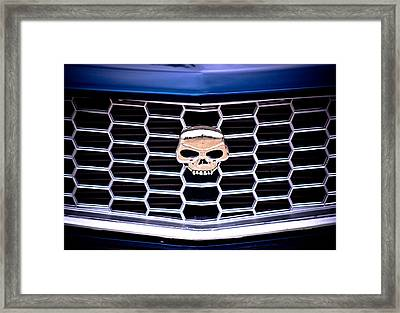 Skull Grill Framed Print by Phil 'motography' Clark