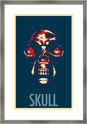 Skull In Hope Framed Print
