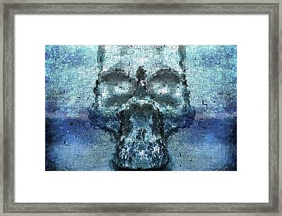 Skull In The Mirror Framed Print