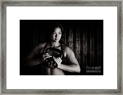 Skull Kettle Bell Framed Print by Jt PhotoDesign