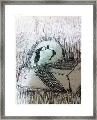 Skull On Box Framed Print by Khoa Luu