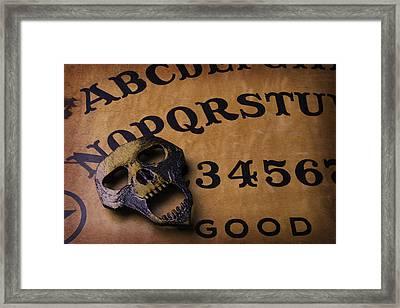 Skull Planchette Framed Print by Garry Gay