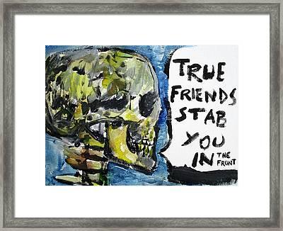 Skull Quoting Oscar Wilde.2 Framed Print by Fabrizio Cassetta