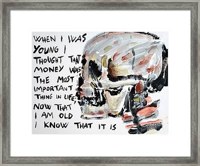Skull Quoting Oscar Wilde.3 Framed Print by Fabrizio Cassetta