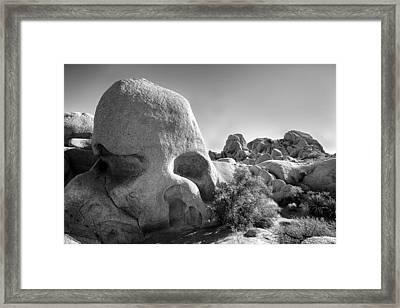 Skull Rock Framed Print by Peter Tellone