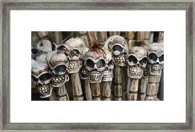 Skull Sticks Framed Print