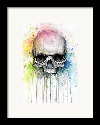 Bright Watercolor Framed Prints