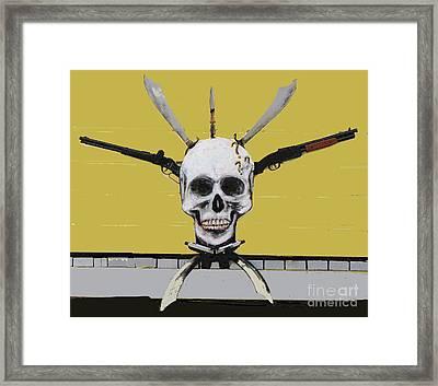 Skull With Guns Framed Print