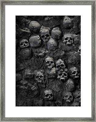 Skulls Framed Print by Bruno Ehrs